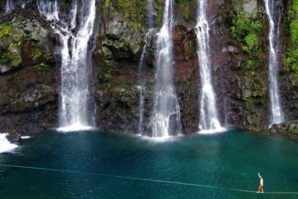 Nico à la cascade de Grand Galet - La Réunion 974