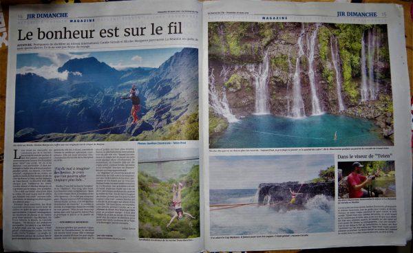 Article dans le JIR - La Réunion 974